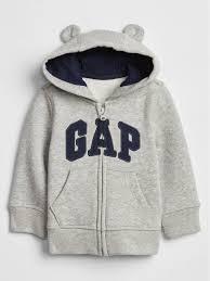 Shop 3 6m Light Heather Gray Baby Bear Gap Logo Zip Hoodie