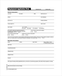 Generic Employment Application Form Job Application Pdf Template Business