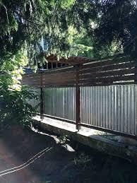 diy metal fencing corrugated metal fence garden fences front yard gardens using corrugated metal wood framed diy metal fencing