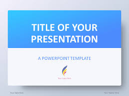 Pwerpoint Templates Blue Gradient Powerpoint Template Presentationgo Com