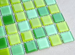 green mosaic tiles glass tile backsplash australia blue