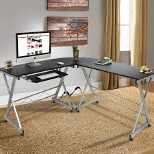 office desk images. Unique Images Wood LShape Corner Computer Desk PC Laptop Table Workstation Home Office  Black In Images E