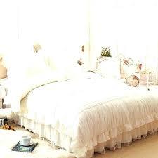 white ruffle comforter twin set luxury lace girl princess satin grey white ruffle comforter