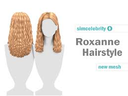 Roxanne Hairstyle | simcelebrity00 on Patreon | Sims 4, Sims hair, Sims