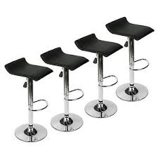 set of 4 bar stools. Image Is Loading Modern-Set-of-4-Bar-Stools-PU-Leather- Set Of 4 Bar Stools A