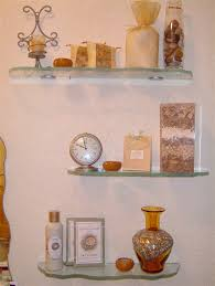 glass shelves chiseled edges