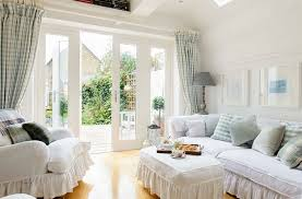 white beach furniture. Shabby Chic Coastal White Slipcover Sofa Living Room Beach Furniture