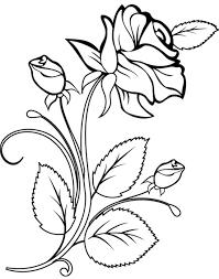 Rose Da Colorare Disegno Di Fiori Per Bambini Da Stampare Gratis Con