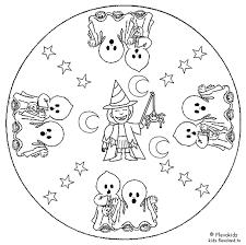 Mandala Spookjes Gevoelens Mandala Kleurplaten Halloween