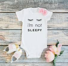 Amazoncom Cute Baby Girl Bodysuit Sleepy Eyes Baby Girl Onesie