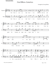 god bless the usa sheet music free god bless america leann rimes easy version stave preview 1 music