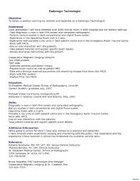 Medical Technologist Sample Resume Ct Tech Resume Examples Resume