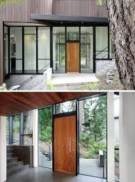 Front Doors Impressive Contemporary Wood Front Door For Modern