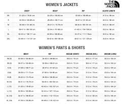 The North Face Size Chart Cm Size Chart North Face