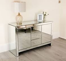 mirrored furniture. Image Is Loading Mirrored-Furniture-Sideboard-Glass-Door-Cabinet-Chest-of- Mirrored Furniture