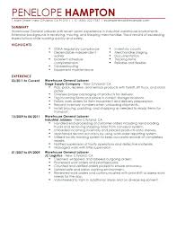 Warehouse Medium To Large Size Of Templates Job Description Resume ...