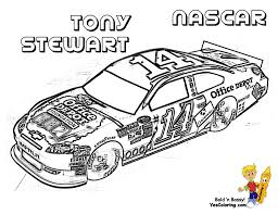 Full Force Race Car Coloring Pages Free NASCAR Sports Car Nascar ...