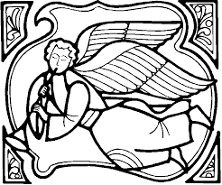 angel coloring pages trumpet blower   coloringstarangel coloring pages trumpet blower