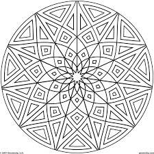 Small Picture Kaleidoscope Coloring Pages Geometripcom Free Geometric