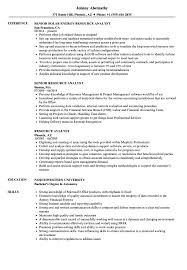 Resource Analyst Resume Samples Velvet Jobs