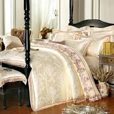 luxury bedding 4 6 pieces white jacquard silk cotton luxury bedding set king size queen bed luxury bedding
