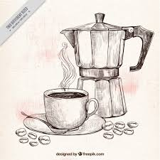 It should be everything you need for your next project. Free Coffee Pot And Cup Sketch Background Svg Dxf Eps Png Best Free Svg Cut Files