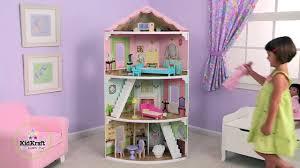 wooden barbie dollhouse furniture. Stunning Girls Corner Dollhouse Toys For Barbie Anna Elsa Dolls By KidKraft - Video Dailymotion Wooden Furniture A