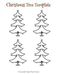 Christmas Tree Stencil Printable Free Printable Christmas Tree Template Cut Outs Simple Mom