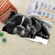 cool beach towel designs. Bulldog Puppy Dog Design Style Bath Towel Washcloth Modern Simple Cool Beach 50x100cm 70x140cm 80x160cm Designs