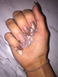 Almond Shaped Nail Designs Rose Gold Almond Shaped Nails Rose Gold Nails Almond