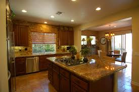 Kitchen Living Room Color Combinations Brown Kitchen Color Combination Amazing Unique Shaped Home Design
