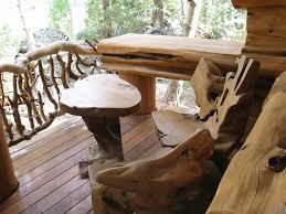 unique outdoor wood furniture