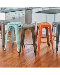 distressed metal bar stools. contemporary stools alfresco metal bar stoolset of 2  sky blue improvements to distressed stools c