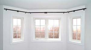 brilliant how to install bay window curtain rods effectively amazing home curtain rods for bay windows ideas