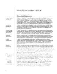 ... Good Summary For A Resume 16 Executive Samples Sample Resumes ...