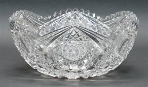 bowls cut glass punch bowl a large brilliant stand star pattern