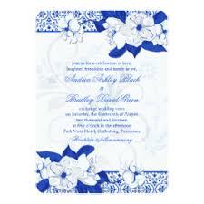cobalt blue wedding invitations & announcements zazzle White And Blue Wedding Invitations cobalt blue and white floral wedding invitation royal blue and white wedding invitations