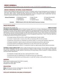Internal Job Resume