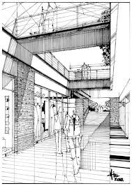 rough architectural sketches. Line Drawing With Straight Hatching To Communicate Shade And Texture. Rough Architectural Sketches