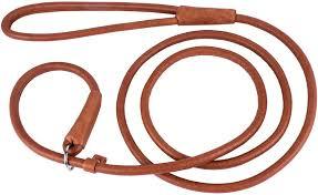 collardirect rolled leather dog leash 6ft 4ft heavy duty slip lead slip leashes small medium large