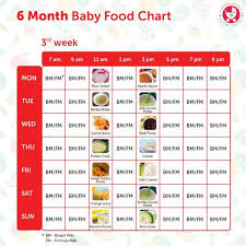 6 Months Food Chart For Indian Babies I Love Foods Pinterest