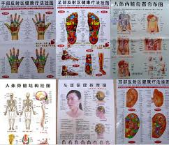 Us 12 9 Free Shipping 10 Pcs Scrapping Healthcare Human Acupuncture Wall Chart Diagram Foot Hand Head Ear Acupuncture Meridian Chart In Massage