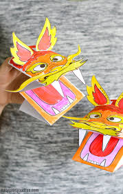 template of a dragon printable chinese dragon puppet easy peasy and fun