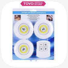 Đèn ngủ dán tường , Bộ 3 bóng đèn Led kèm điều khiển có điều khiển từ xa  hẹn giờ điều chỉnh mức sáng tiện lợI - Đèn tường
