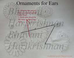 ornaments for ears kerala mural paintingpainting lessonspainting techniquesindian