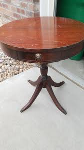 antique wooden drum table claw feet drawers duncan phyfe federal style round for in parker co offerup