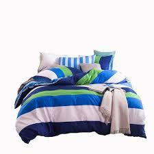 green white blue striped bedding set cotton 100 bright color duvet cover set bedding pillowcase