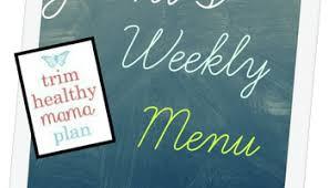 Weekly Menu For One Jamis Weekly Trim Healthy Mama Menu Incorporating Deep S Meals