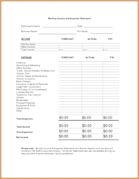 Sample Income Statement Unique Monthly Income Statement Template Income Statement Template Monthly