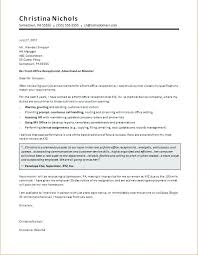 Cover Letter For Receptionist Examples Receptionist Cover Letter